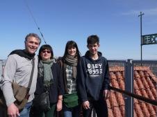Notre famille sur le toit