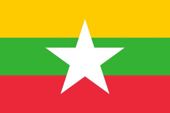 Drapeau de la Birmanie