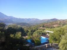 La piscine en contre bas de la terrasse principale