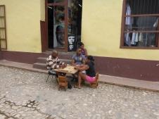 Joueurs d'échèques dans la rue