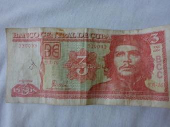 Billet de 3 pesos à l'effigiedu Che !