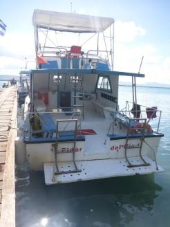 et son bateau !