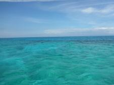 Les dégradés de bleus de la mer