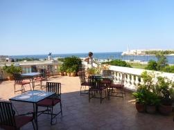 La vue de la terrasse !
