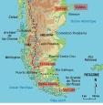 Carte argentine - Patagonie