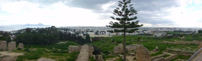 La vue du Musée National de Carthage