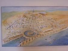 Vue générale de Carthage avec le port Punique en rond