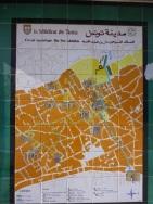Plan de la médina de Tunis