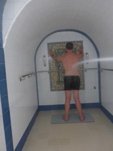 Pat sous la douche à jet