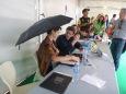 Une dédicace par temps de pluie ! Annaïs Depommier avec Jérôme Jouvray