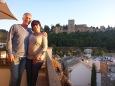 Notre terrasse avec la vue Grenade