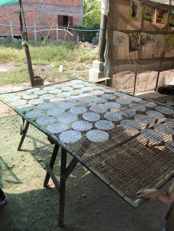 Fabrication des feuilles de riz