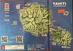 La carte de Tahiti