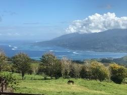 Vue de Tahiti Iti de la presqu'île, gauche