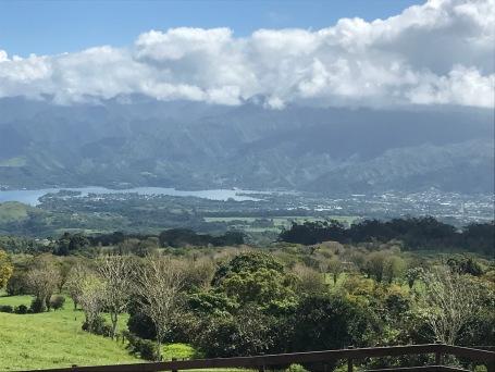 Vue de Tahiti Iti de la presqu'île, centre