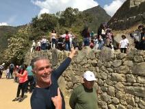 Tout en haut, le sommet de la Montana Picchu