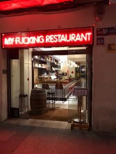 My Fucking Restaurant Barcelone