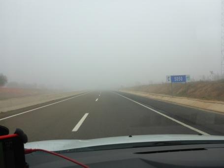 Le brouillard au départ d'Agadir