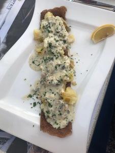Crêpe aux huîtres chaudes