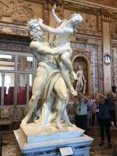 galerie Borghèse : rapt de Proserpine de Bernin