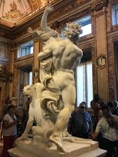 galerie Borghèse : Enée fuyant Troie de Bernin