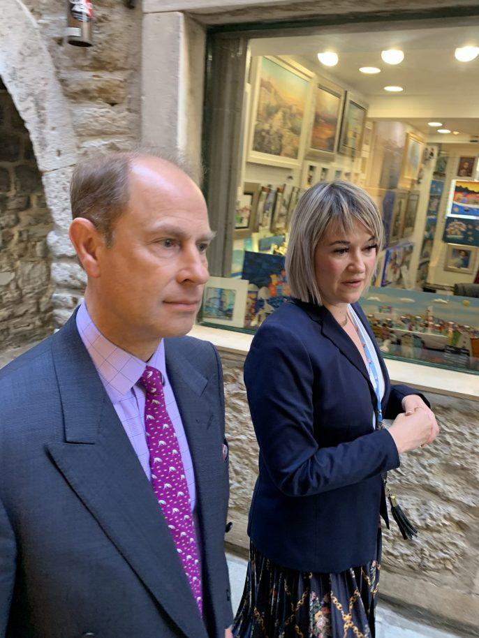le prince Édouard et son épouse Sophie