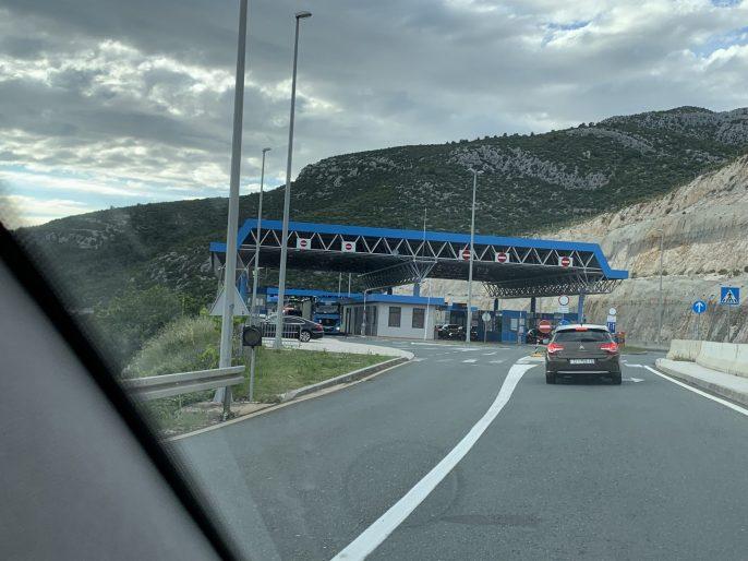 Frontière Croatie Bosnie-Herzégovine à Neum