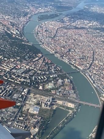 Budapest vue d'avion