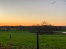 Coucher de soleil sur Greenwood plantation